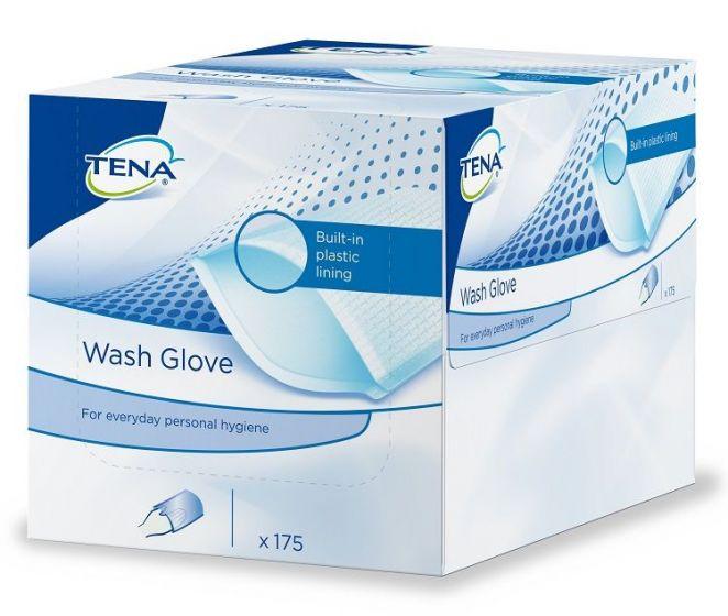 Tena Wash Gloves (plasticzijde) - 175 stuks