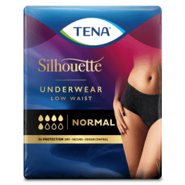 Tena Silhouette Normal Noir - lage taille - Large
