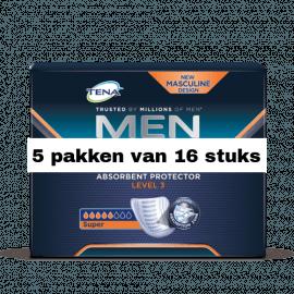 Tena For Men Level 3 | 5 pakken van 16 stuks
