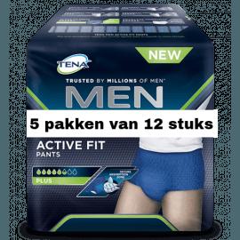 Tena Men Active Fit Medium | 5 pakken van 12 stuks