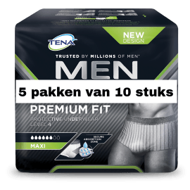 TENA Men Premium Fit Large | 5 pakken van 10 stuks