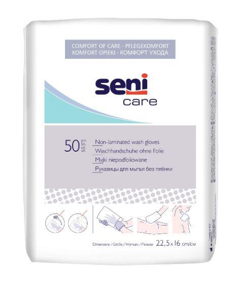 Seni Care washandjes zonder folielaag 50 stuks