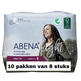 Abena Light Maxi | 10 pakken van 8 stuks