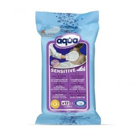 Aqua Sensitive vochtige washandjes - 12 stuks