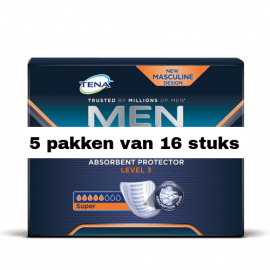 Tena For Men Level 3 | 5 pakken van 16 stuks