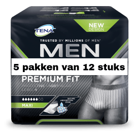 TENA Men Premium Fit Medium | 5 pakken van 12 stuks