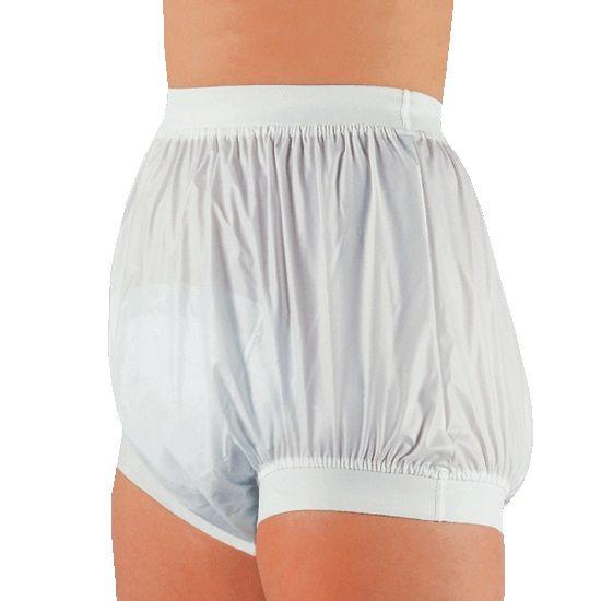 Plastic broekje (PVC) – dames / heren -  breed taille- en been elastiek