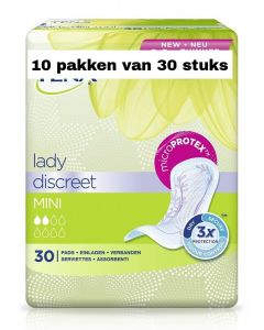 Tena Lady Discreet Mini   10 pakken van 30 stuks