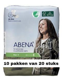 Abena Light Mini | 10 pakken van 20 stuks