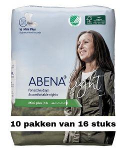 Abena Light Mini Plus | 10 pakken van 16 stuks