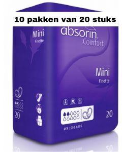 Absorin Comfort Finette Mini | 10 pakken van 20 stuks