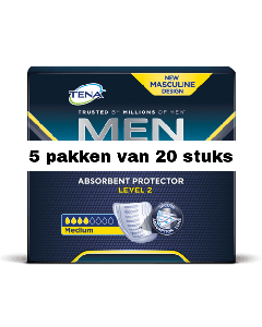 Tena For Men Level 2 | 5 pakken van 20 stuks