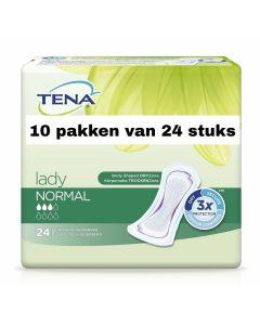 Tena Lady Normal   10 pakken van 24 stuks