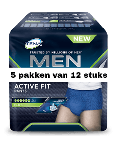 Tena Men Active Fit Medium | 5 pakken van 12 stuks