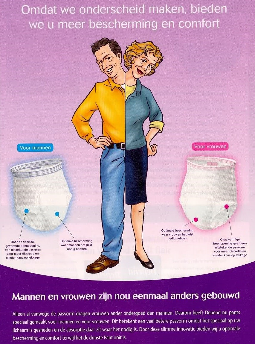 Depend Pants Luier Man Vrouw