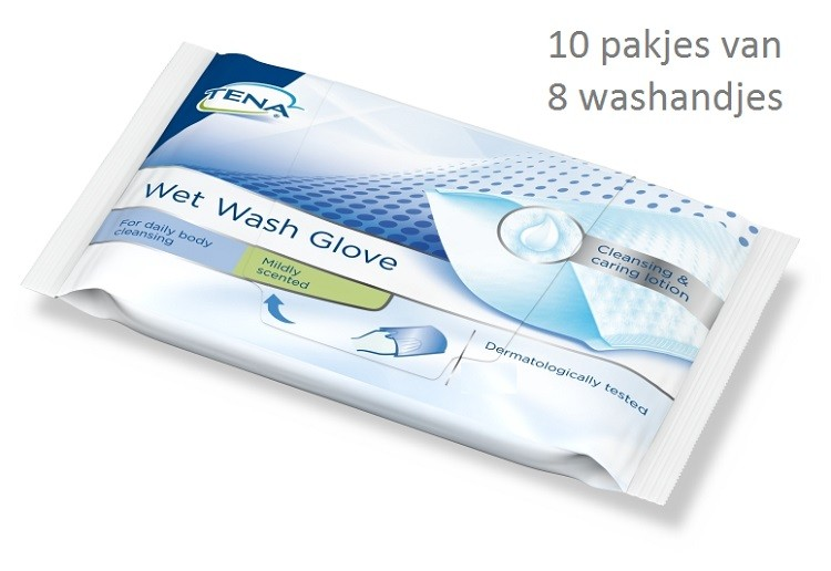 tena wet wash gloves