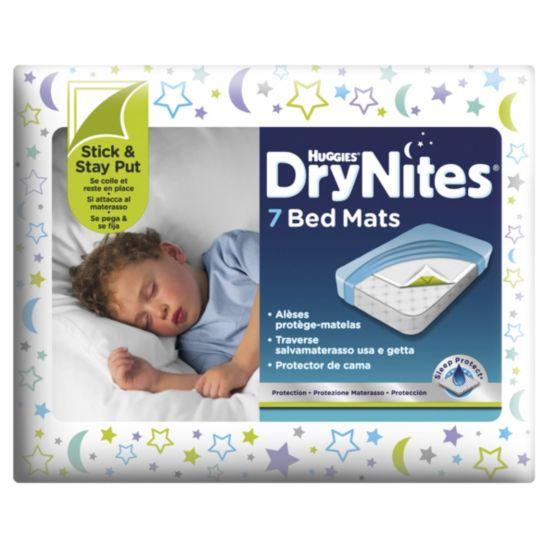 huggies drynites matrasbeschermer met plakstroken