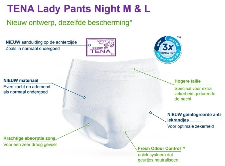 tena lady pants night product
